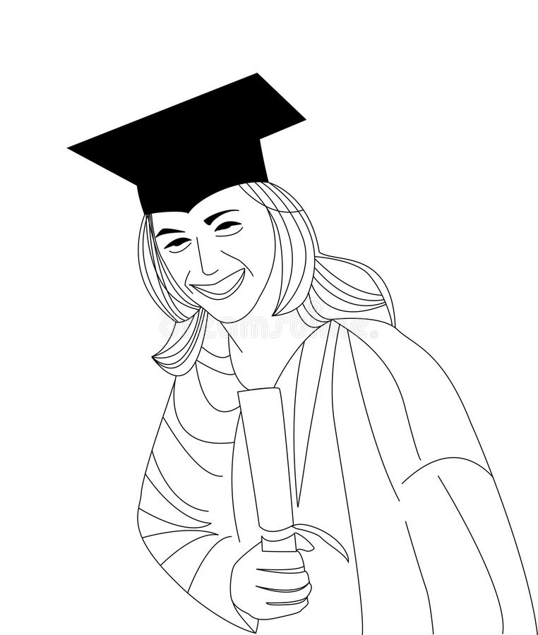 Download Happy Graduate stock vector. Image of diploma, gown, portrait - 23619271