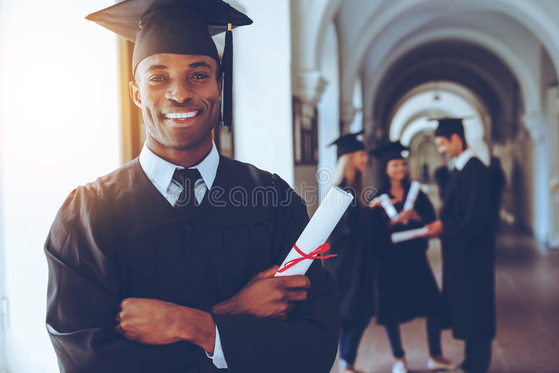 Happy graduate. royalty free stock images