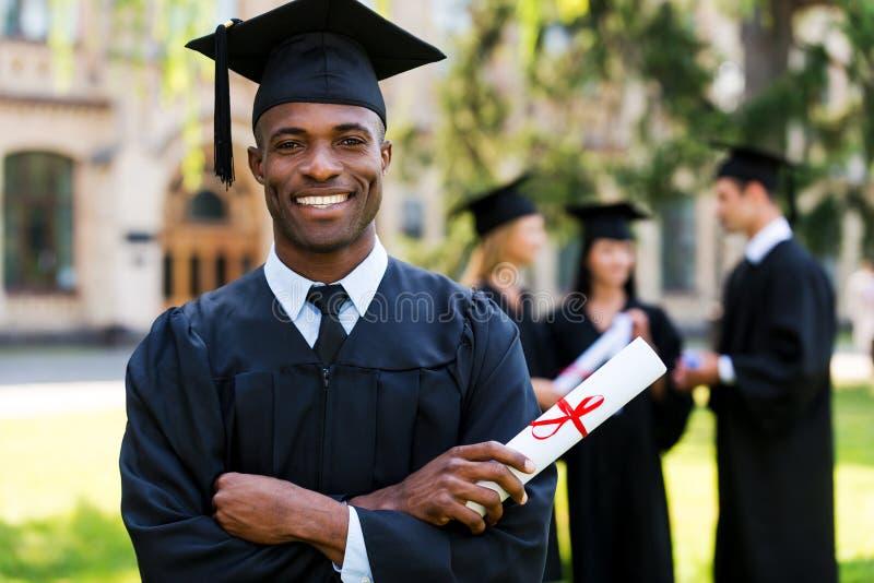 Happy graduate. stock photography