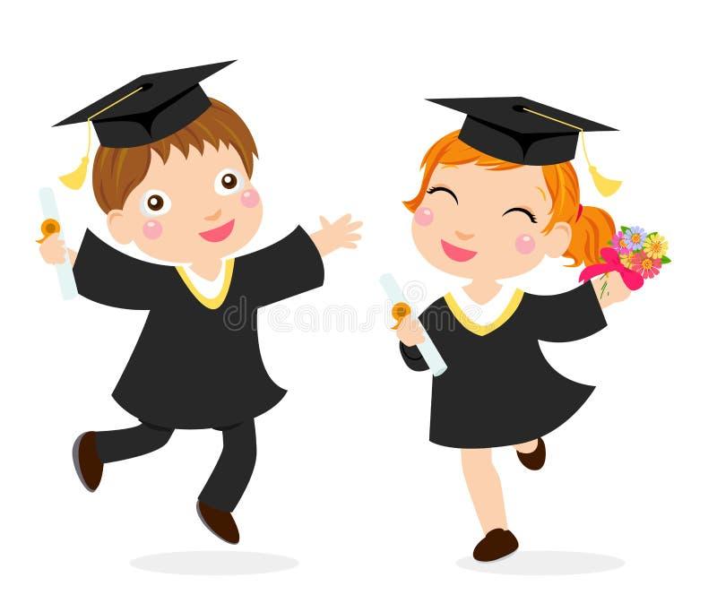 Happy graduates vector illustration