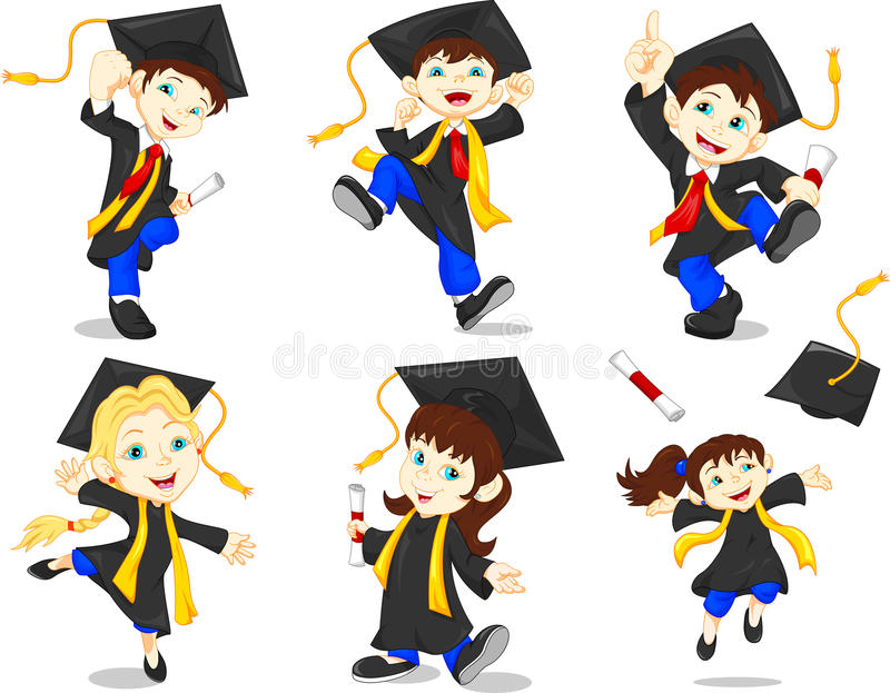 Happy graduates vector illustration