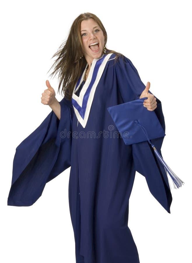 Happy Graduation Student. Happy female grad student standing stock photos