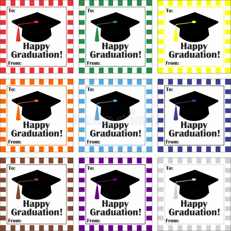 Happy Graduation Tag / Label stock illustration