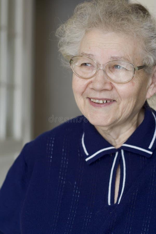 Happy grandma stock image