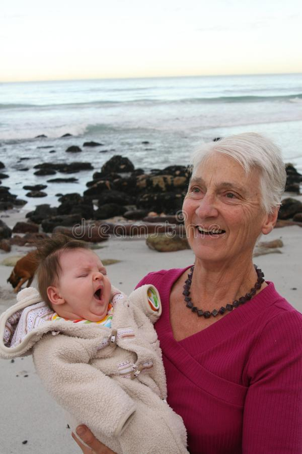 Happy Grandmother Free Stock Photography