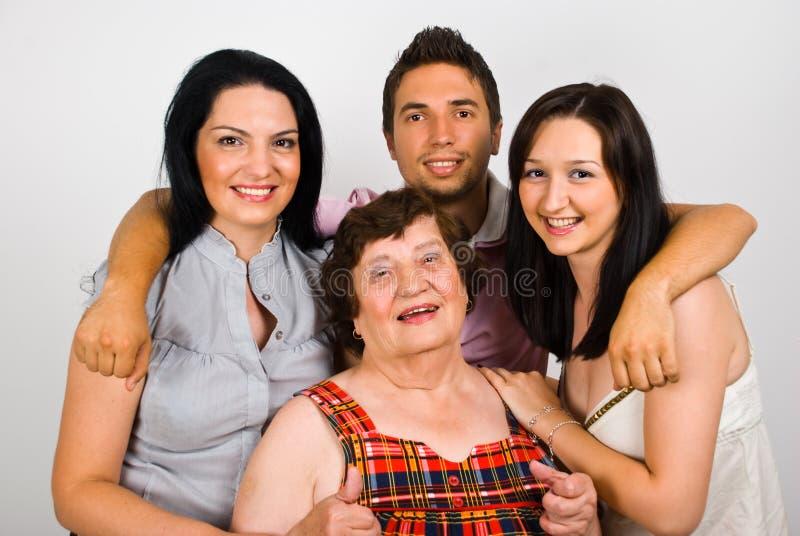 Download Happy Grandmother With Grandchildren Stock Image - Image: 14716179