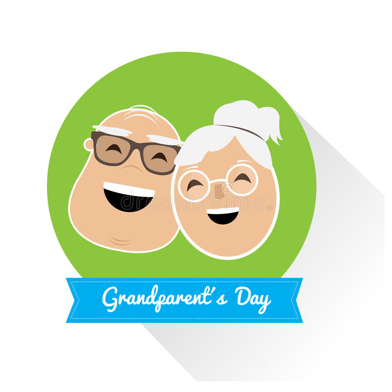 Happy grandparent's day royalty free illustration