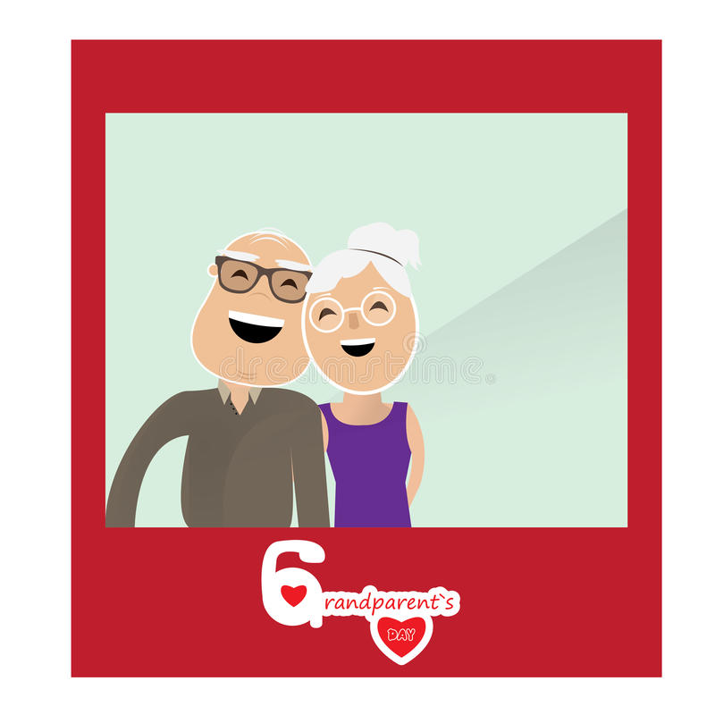 Happy grandparent's day vector illustration