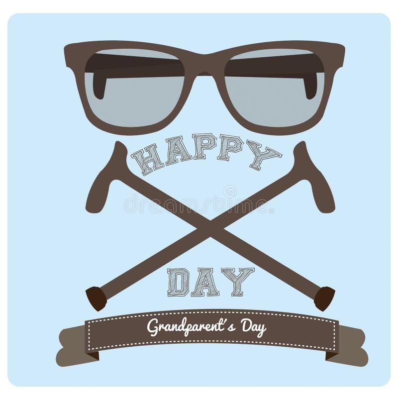 Happy grandparent's day stock illustration