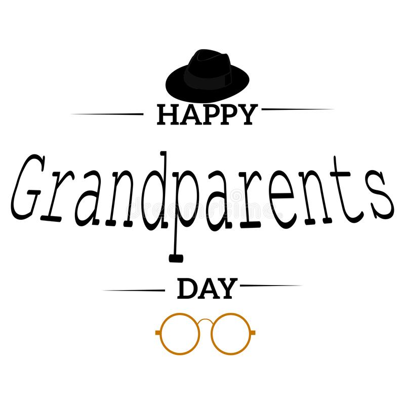 Happy grandparents day. Abstract happy grandparents day background with some special objects stock illustration