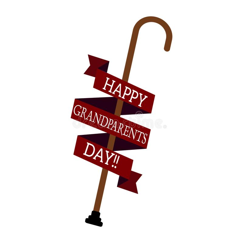 Happy grandparents day stock illustration