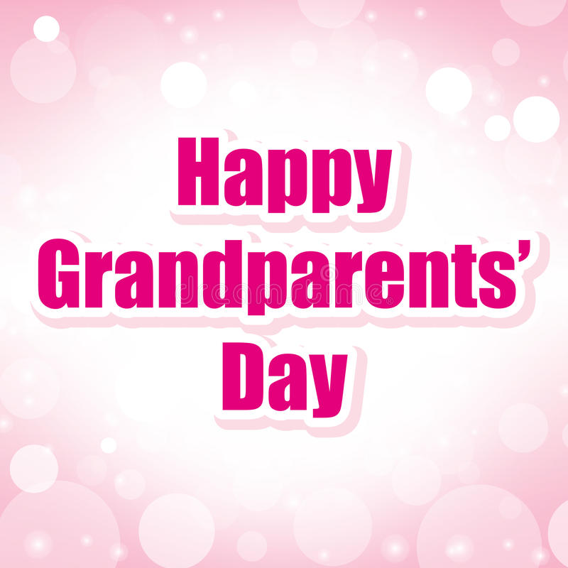 Happy grandparents' day. American background illustration vector illustration