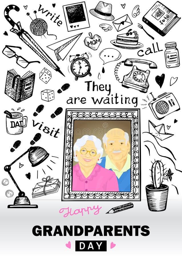 Happy Grandparents Day stock illustration