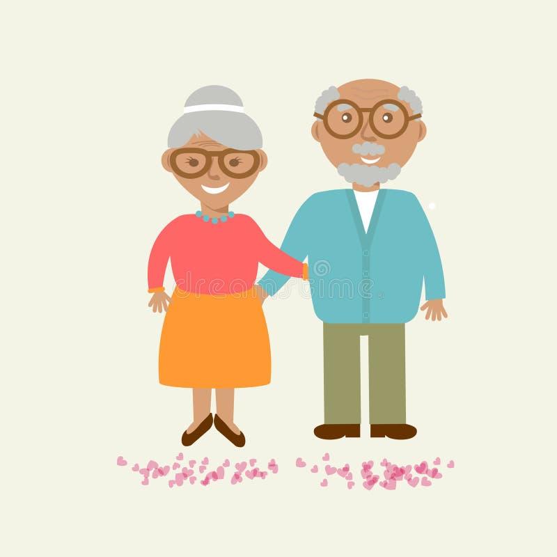 Happy Grandparents day card. Vector illustration. vector illustration