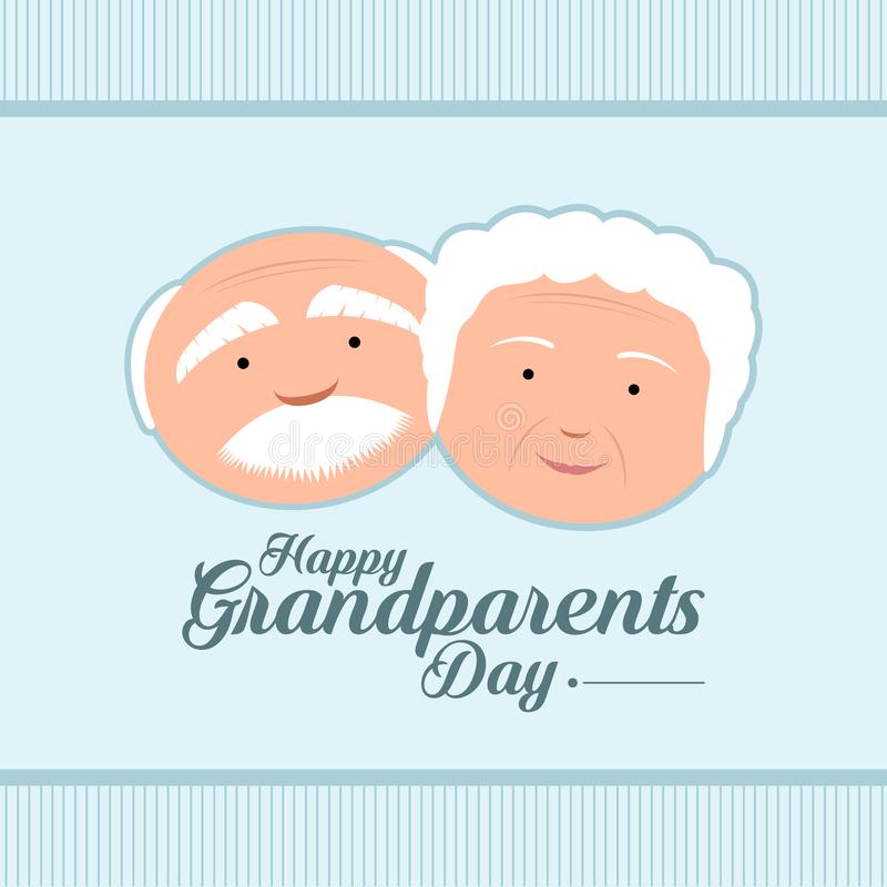 Happy grandparents day. Colored textured grandparents day invitational card, Vector illustration royalty free illustration