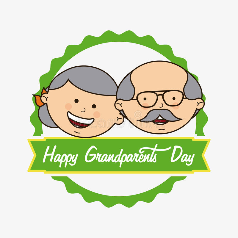 Happy grandparents day. Design, illustration eps10 graphic royalty free illustration