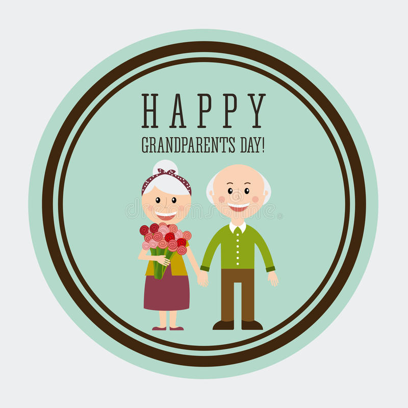 Happy grandparents day. Design, illustration eps10 graphic stock illustration