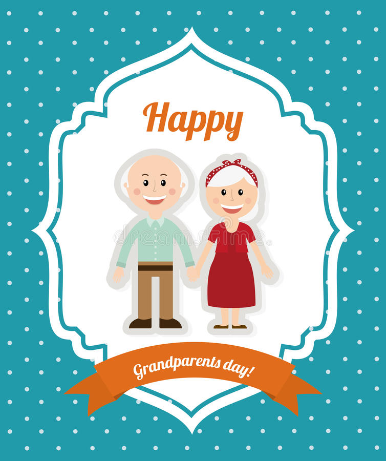 Happy grandparents day. Design, illustration eps10 graphic vector illustration