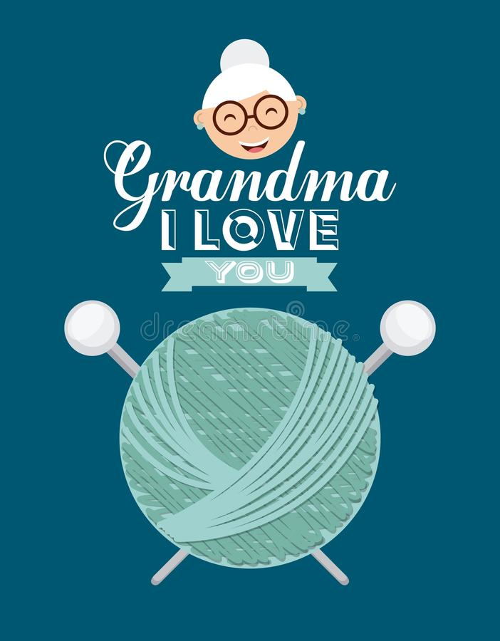 Happy grandparents day. Design, vector illustration eps10 graphic stock illustration