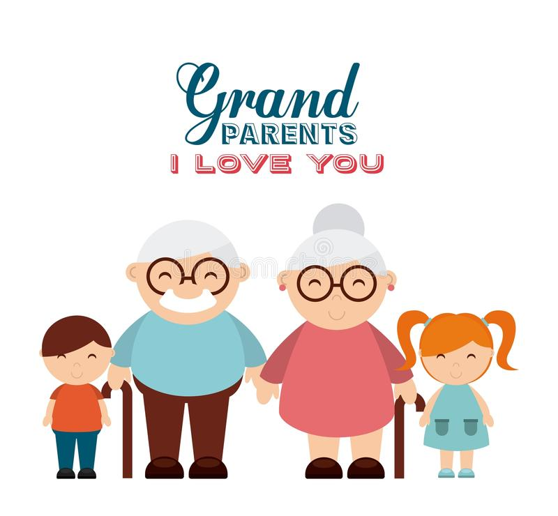 Happy grandparents day vector illustration