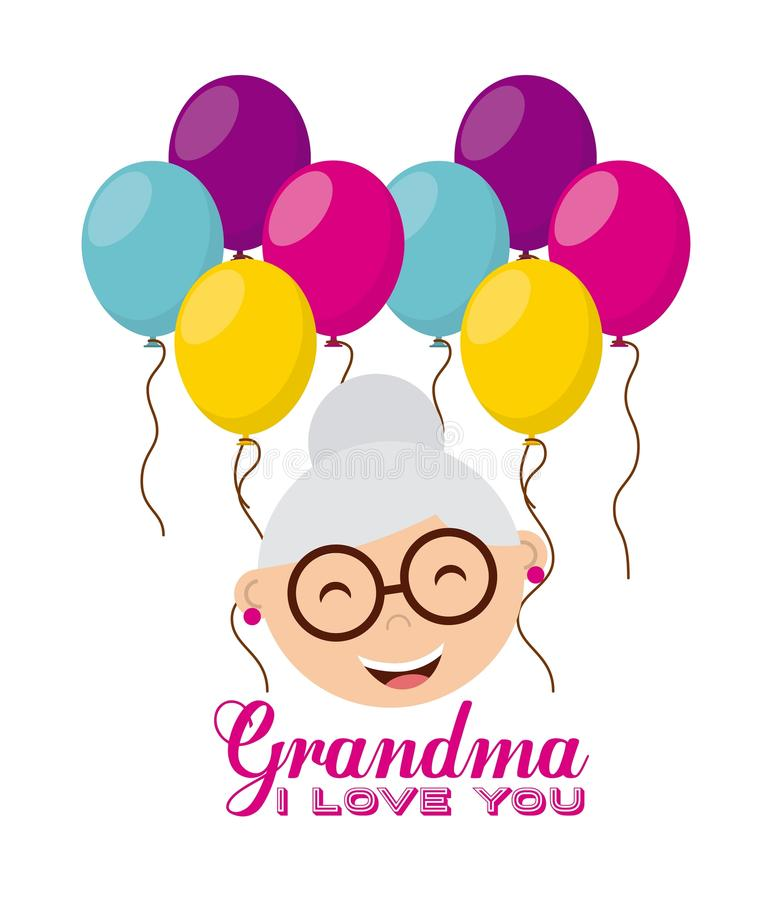 Happy grandparents day. Design, vector illustration eps10 graphic vector illustration