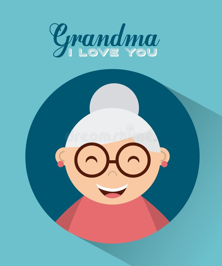 Happy grandparents day. Design, vector illustration eps10 graphic stock illustration