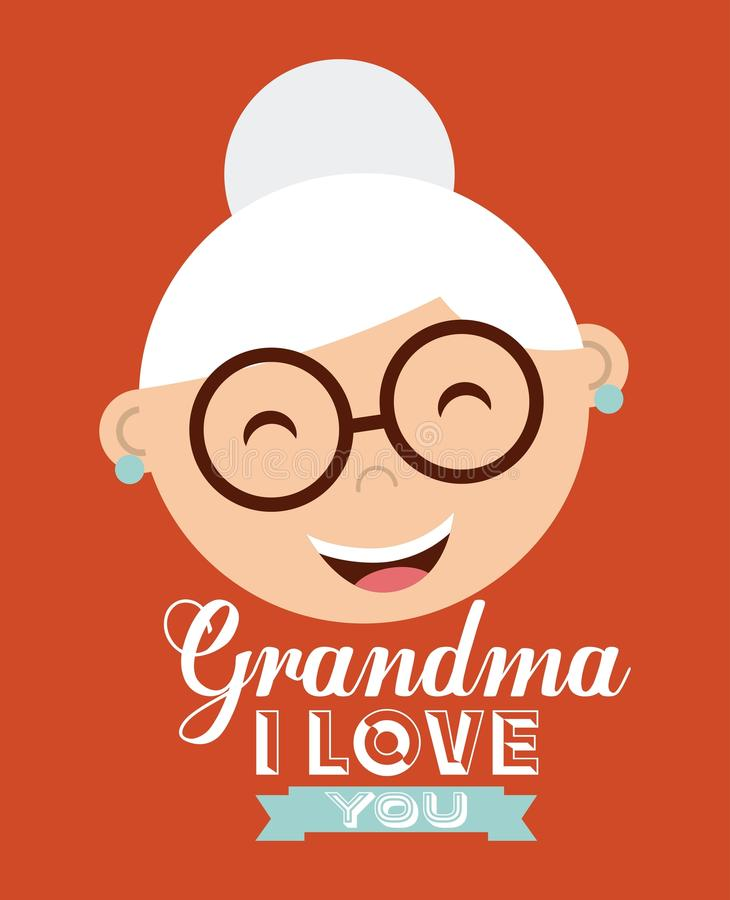 Happy grandparents day. Design, vector illustration eps10 graphic royalty free illustration