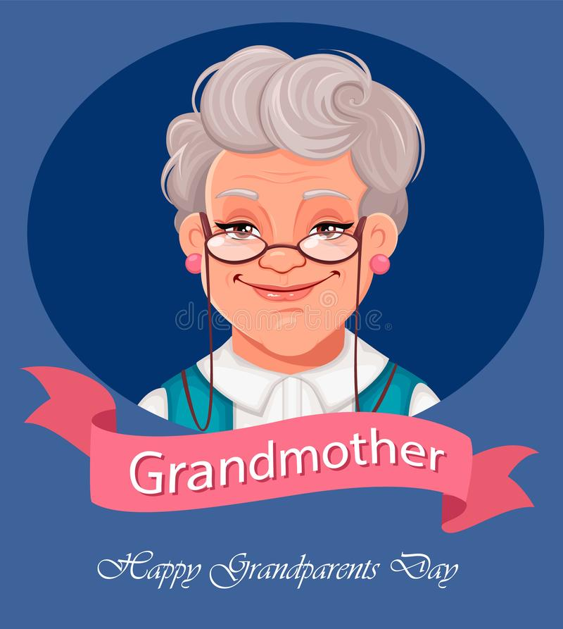 Happy Grandparents Day greeting card vector illustration