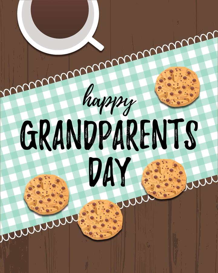 Happy Grandparents Day greeting card stock illustration
