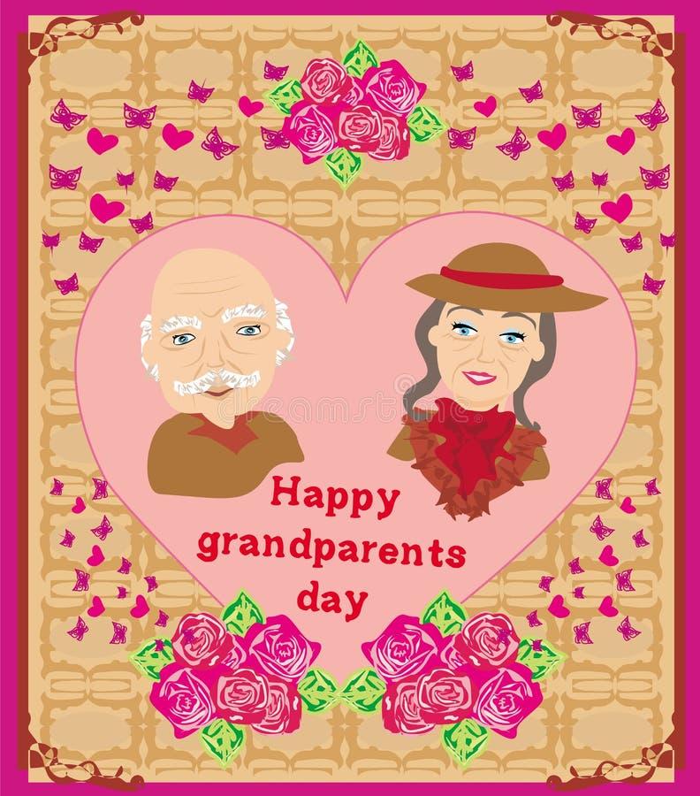 Happy grandparents day royalty free illustration