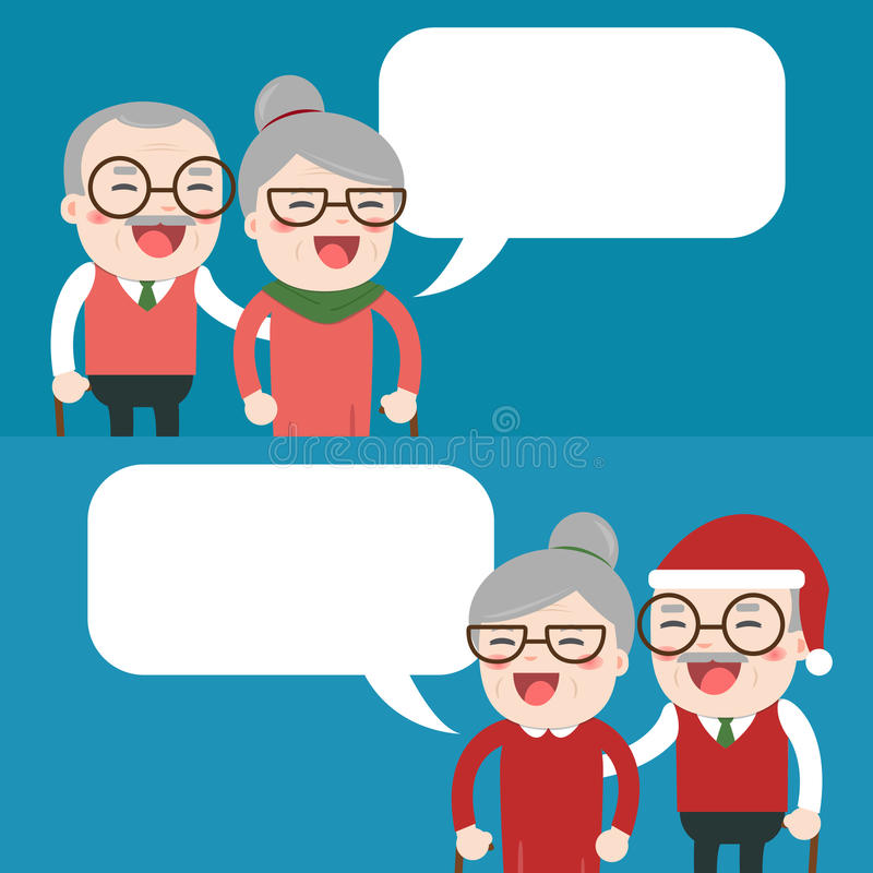 Happy grandparents day. Merry Christmas, Happy grandparents day royalty free illustration