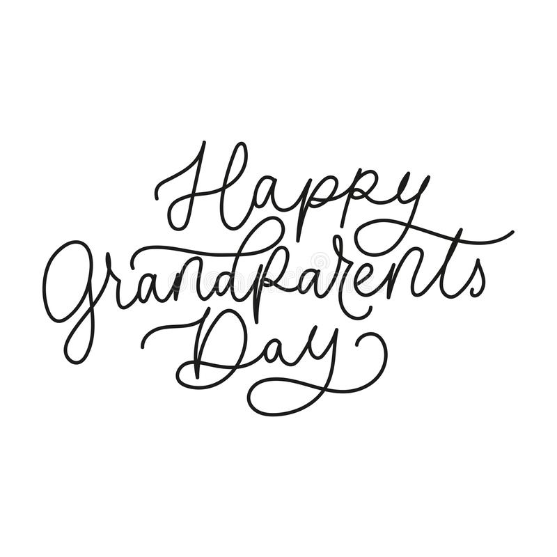 Happy grandparents day poster or greeting card royalty free illustration