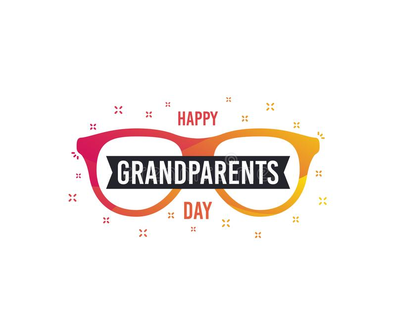 Happy Grandparents Day vector banner. Greeting card design. stock illustration