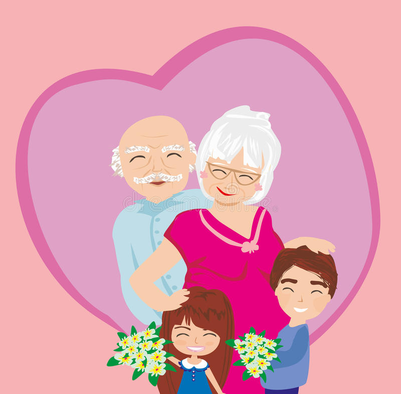 Happy grandparents day. Vector Illustration royalty free illustration