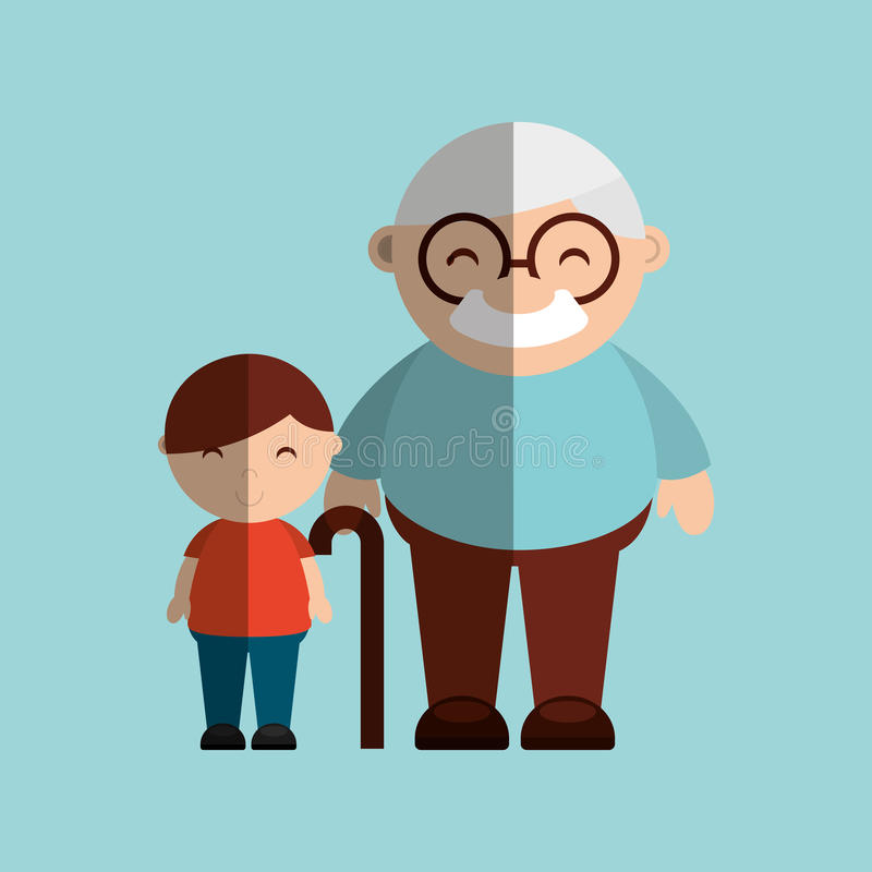 Happy grandparents design. Illustration eps10 graphic royalty free illustration