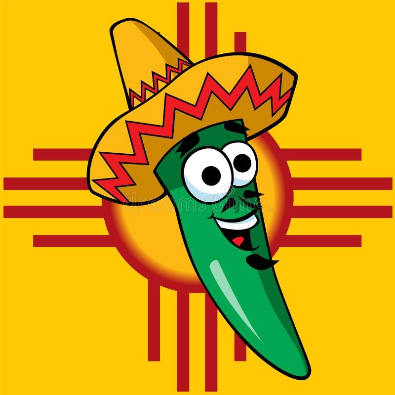 A Happy Green Chili vector illustration