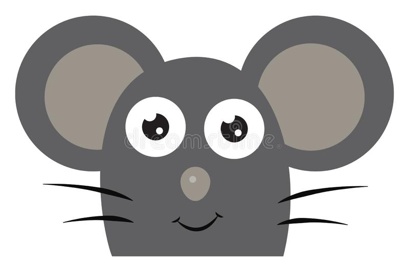 A happy grey mouse vector or color illustration vector illustration