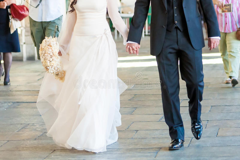 Download Bride and groom walk stock image. Image of handsome, anniversary - 30258409