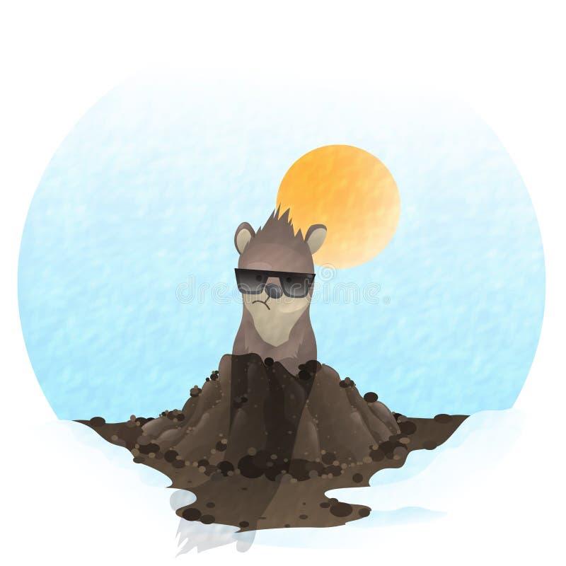 Happy Groundhog Day. vector illustration