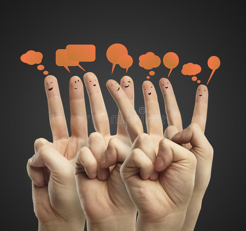 Download Happy Group Of Finger Smileys Royalty Free Stock Photo - Image: 22599435