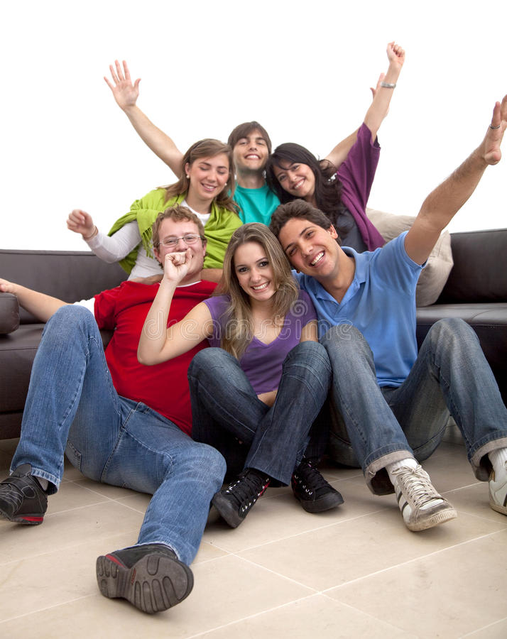 Download Happy group of friends stock image. Image of excited - 10911657