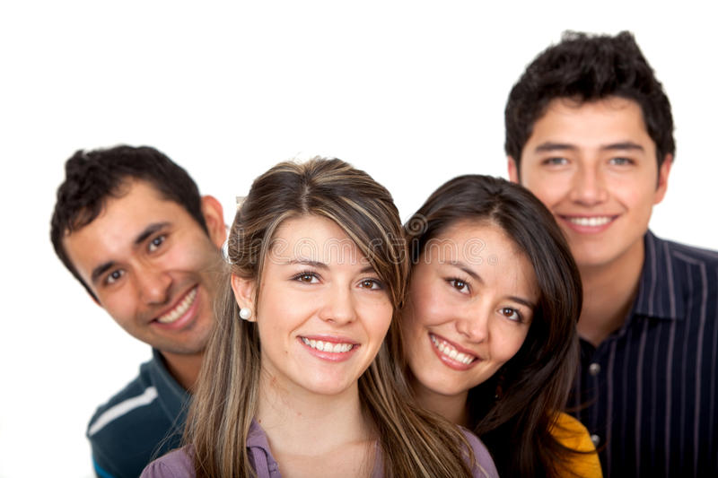 Download Happy group of friends stock image. Image of together - 12087061