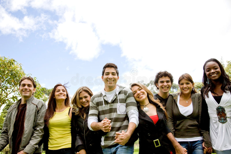 Download Happy group of friends stock photo. Image of studying - 7160300