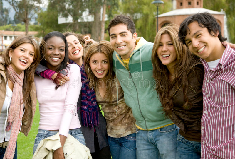 Download Happy group of people stock photo. Image of american, support - 6985844