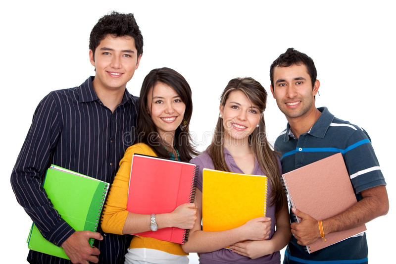 Download Happy group of students stock photo. Image of girls, isolated - 12808814