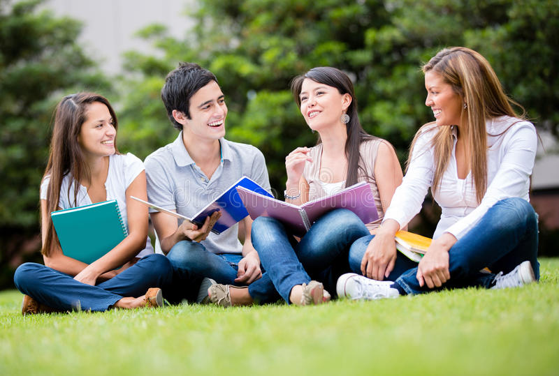 Download Happy group of students stock image. Image of cheerful - 27951055