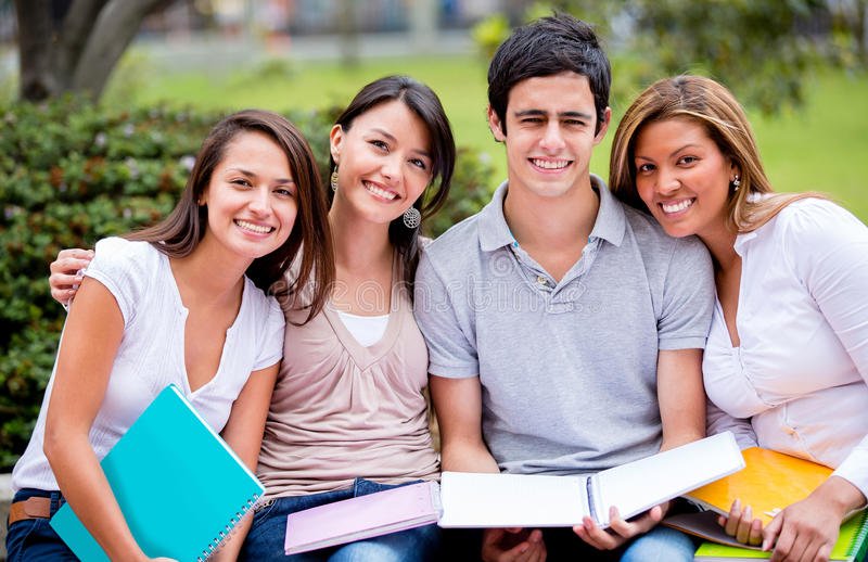 Download Happy group of students stock image. Image of cheerful - 27951061