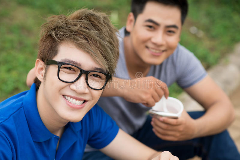 Download Happy guys stock image. Image of outdoors, leisure, closeup - 28183809
