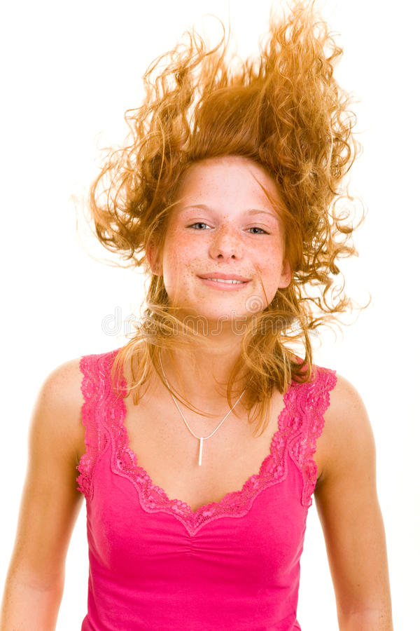Happy hair royalty free stock photo