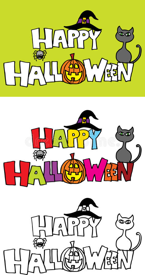Download Happy halloween stock vector. Illustration of colored - 10911462